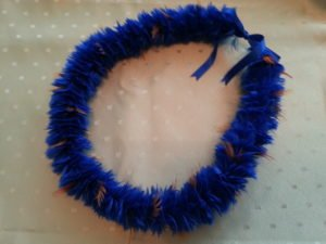Royal Blue Lei Ka' ahumanu